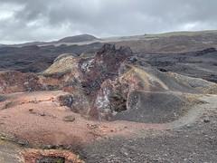 The Sierra Negra (1,490 meters / 1,490 ft) and Chico (860 meters / 2,821 ft) Volcanoes, Isla Isabela, the Galápagos Islands, Ecuador.