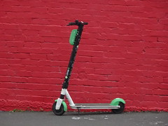 Lime Scooter on Red