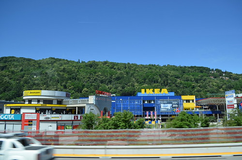 Passing by IKEA store just to south of Lugano, Switzerland