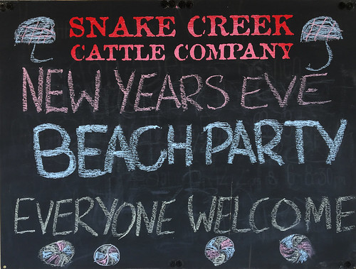 So I opted to plan ahead. Booked myself in for the best NYE imaginable. A Beach Party with a real bite to it. At Snake Creek. How cool is that!