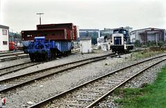 260 104 rangiert in Weingarten(Württ) für Üg 86382, 06.10.1987