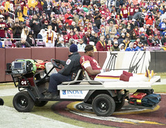 Haskins is Carted Off the Field