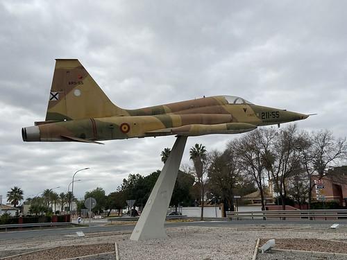 AR.9-55, CASA/Northrop SRF-5A Freedom Fighter, On Display, Spanish (2055), Utrera Town 15th December 2019
