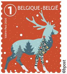 19 NOEL BELGIE 2020 timbre