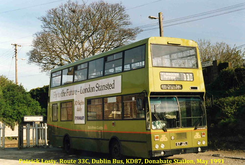 Route 33C, Donabate Railway Station to Portrane, Dublin Bus, KD87, May 1991