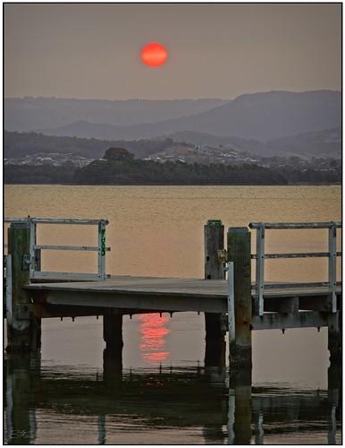 Big Orange Ball over the Illawarra