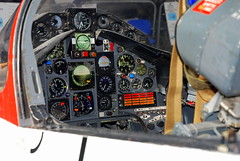 BAe Hawk front cockpit instrument panel, the Boscombe Down Aviation Collection, Old Sarum Airfield.