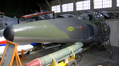 Supermarine Swift F.7 nose section. the Boscombe Down Aviation Collection, Old Sarum Airfield.
