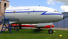 DeHavilland Comet nose section, the Boscombe Down Aviation Collection, Old Sarum Airfield.