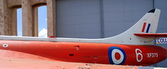 Rear fuselage detail Hawker Hunter F.6A formerly of the Empire Test Pilots School at the Boscombe Down Aviation Collection.