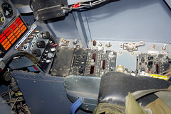 BAe Hawk front cockpit right hand side panel, the Boscombe Down Aviation Collection, Old Sarum Airfield.