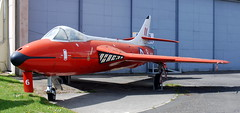 Hawker Hunter F.6A formerly of the Empire Test Pilots School at the Boscombe Down Aviation Collection.