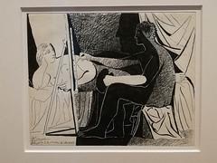 Picasso illustrateur : Le peintre et son modèle
