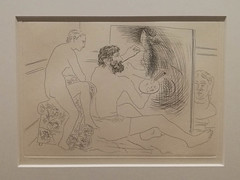 Picasso illustrateur : peintre au travail - Photo of Leers