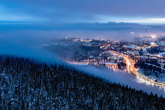 City of Kuopio and the mist rising from the surrounding lake