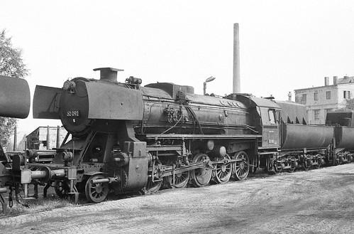DR 52 092 (Krauss-Maffei 1943; ursprünglich vorgesehen als 50 3136) Bw Glauchau