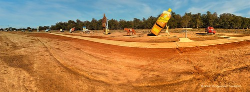 Outback Utes Panorama - Utes in the Paddock, The Gipps Way, Condoblin, Central West, NSW