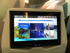 PAL A350 seatback touchscreen