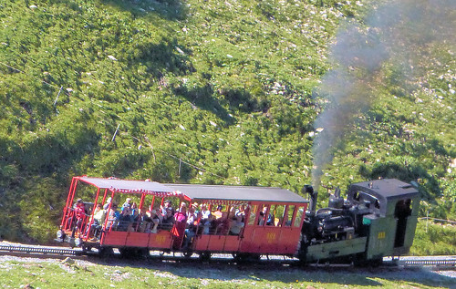 Brienz Rothorn Bahn, Switzerland - No. 5 climbs towards the Summit with the 10.00 Special from Brienz on the 4th September 2019