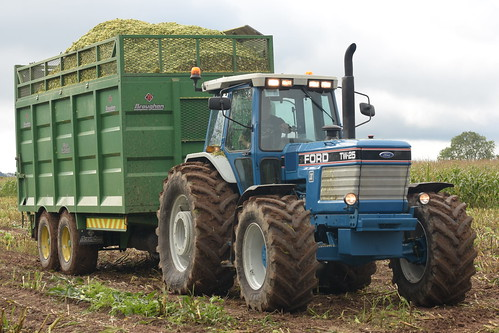 Ford TW25 Tractor with a Broughan Engineering Mega HiSpeed Trailer