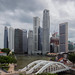 Singapore Skyline with Elgin Bridge