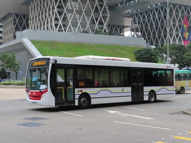 MTR shuttle bus NM 4716 (901) is seen passing Tiu Keng Leng Station , Tiu Keng Leng .