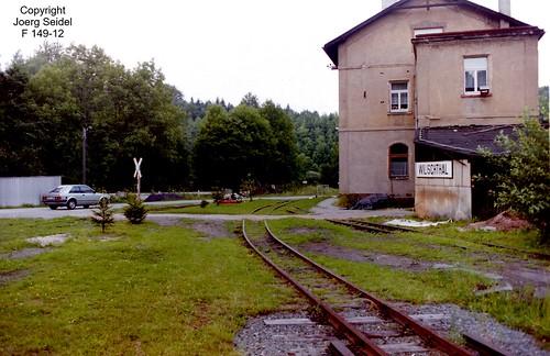 D-09439 Wilischthal Deutsche Reichsbahn Schmalspurbahn im August 1993