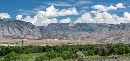 West Face of Bighorn Mountains along US-14