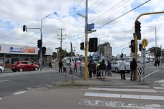 People crossing near Springvale Station