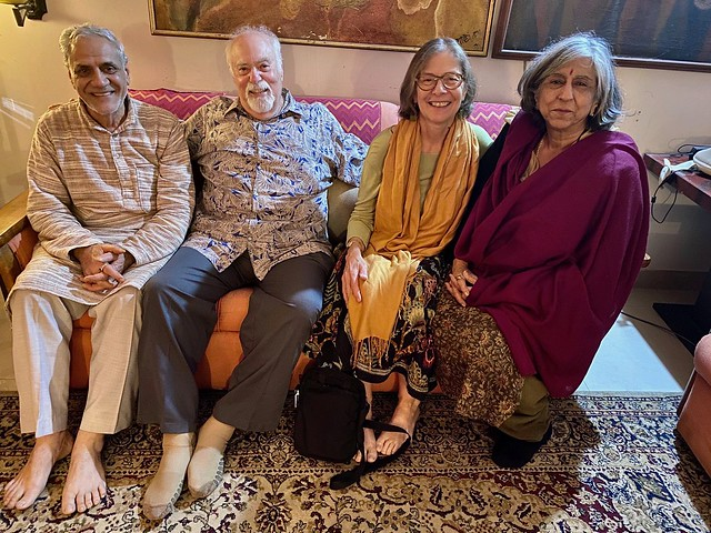 With M.C. Mehta and wife in Delhi