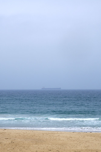 Cargo ship, Caves Beach