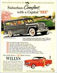 1954 Willys Station Wagon & Aero Eagle