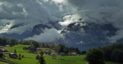 Storm clouds in the Aare River Valley, Switzerland.