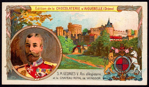 French Tradecard - King George V of England