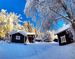Mountain huts. Tuddal. Norway.