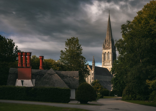 St Mary's Cathedral & Thatched Roof Cottage