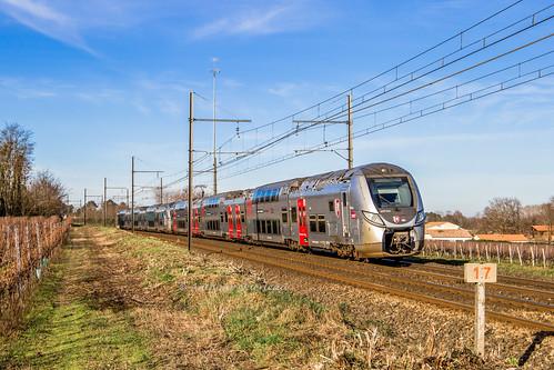 28 décembre 2019 z 56313-56331 Train 866821 Bordeaux -> Agen Beautiran (33)