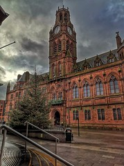 Barrow-in-Furness town hall at Christmas