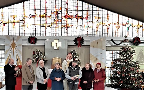Congratulations to Vine Team. The team were presented with a Papal Blessing by Bishop Eamonn Walsh, in recognition of their great work spreading the Gospel in Tallaght