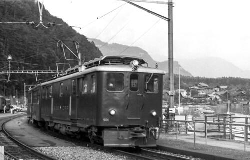 SBB Deh 4/6 909 Brienz 17/08/1983. Foto Roberto Trionfini