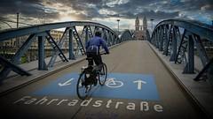 Wiwili Brücke (Blaue Brücke) in Freiburg