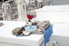 t-shirt on tomb