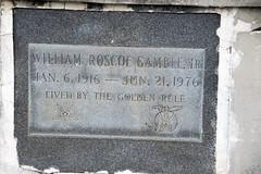 Shriner tomb of William Roscoe Gamble
