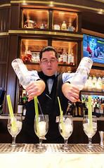 Bartender preparing Bloody Mary's