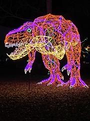 Impressive T-Rex light display