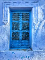 Blue windows, Blue City, Chefchaouene, Morocco, 摩洛哥