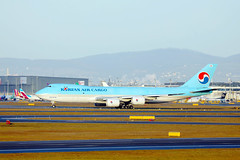 Korean Air Cargo jumbo Boeing B747