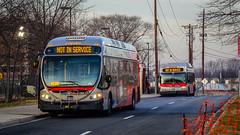 WMATA Metrobus 2014 NABI 42 BRT Hybrid #8038 & 2005 New Flyer DE40LF #6039