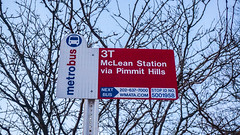 WMATA Route 3T Bus Stop @ West Falls Church