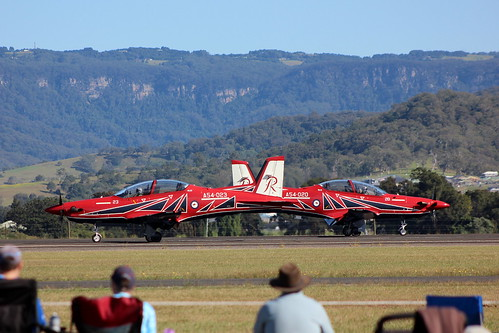 ROYAL AUSTRALIAN AIR FORCE (R.A.A.F.) PILATUS PC-21's OF THE RULETTES